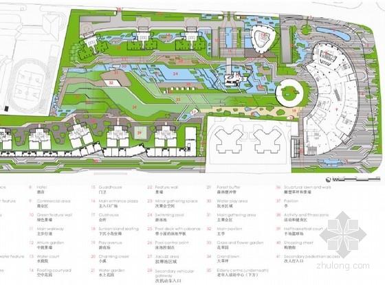 [上海]商住两用居住区综合体景观概念设计方案