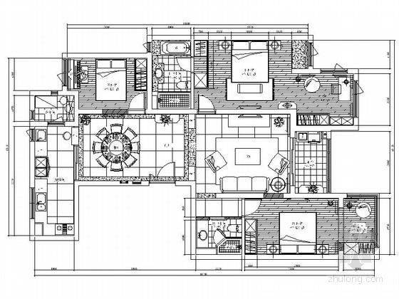 [上海]温馨欧式风情三居室样板房室内装修图(含效果)