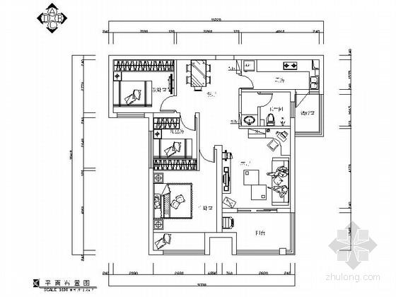 新中式风格三居室样板房装修图(含效果)