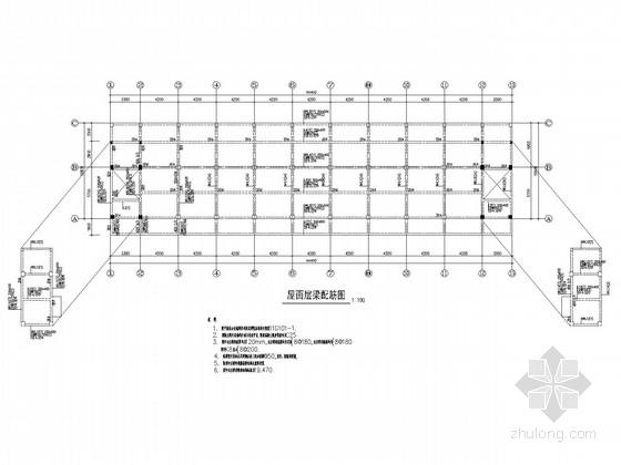 5层框架宿舍楼结构施工图(条形基础)