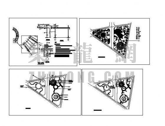 武汉某小区游园景观设计图纸-2