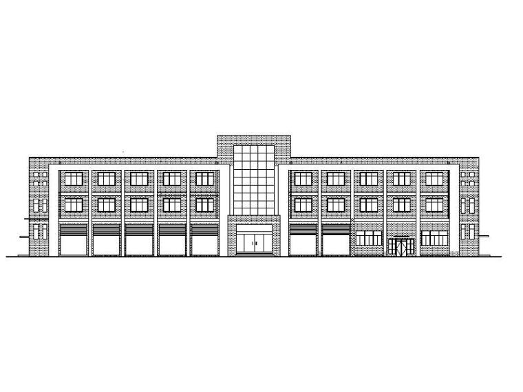 [宁夏]大型工业区消防站建筑改造施工图(全专业图纸)