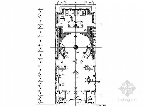 [石家庄]山水园林式五星级迎宾馆大堂设计施工图(含效果)