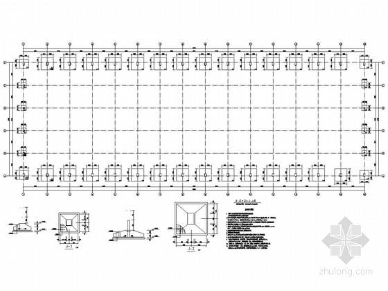 30M单跨砖墙轻钢顶厂房结构施工图(含软件计算书)