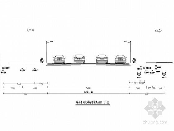 [重庆]城市人行天桥综合管网迁改工程施工图设计12张