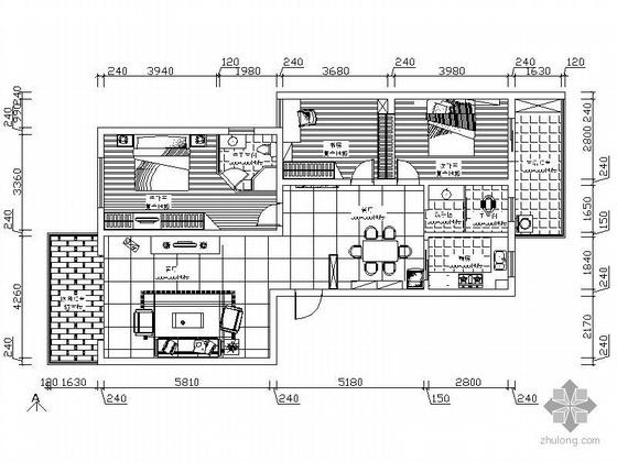 [湖南]三居室方案设计图