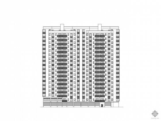 [湖北]某十九层一梯四、塔式住宅建筑施工图纸(底层架空,顶层复式)