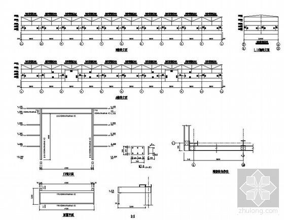 带吊车钢结构厂房结构施工图