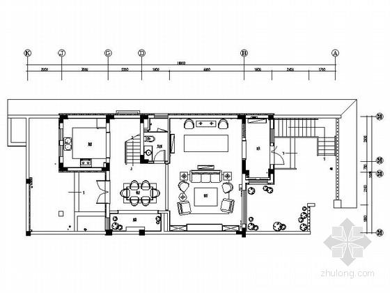 [哈尔滨]保利开发奢华美式双层别墅室内装修设计施工图(含效果和实景)