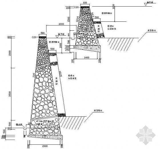 挡墙断面设计图(3)