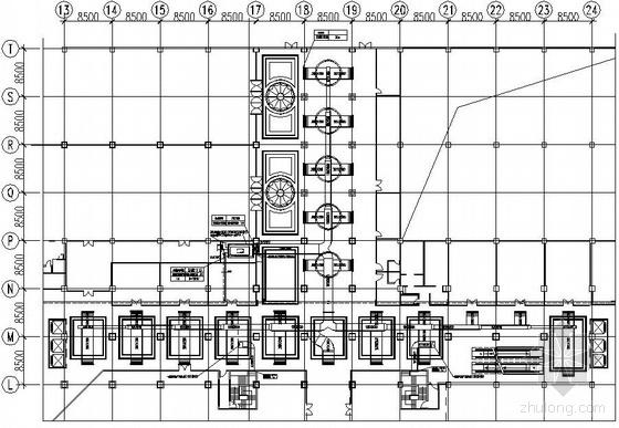 二层建筑空调通风平面图