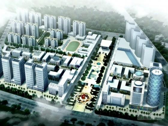 [安徽]某城市中心规划及单体设计方案文本(含CAD)