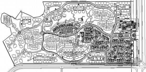 [南京]小区组团绿地景观设计施工图