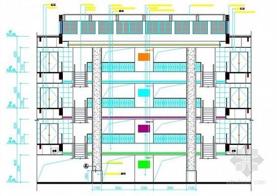 [广东]2012年四层砖混结构商业批发综合楼室内装饰装修工程量清单预算(整套CAD图纸155张)