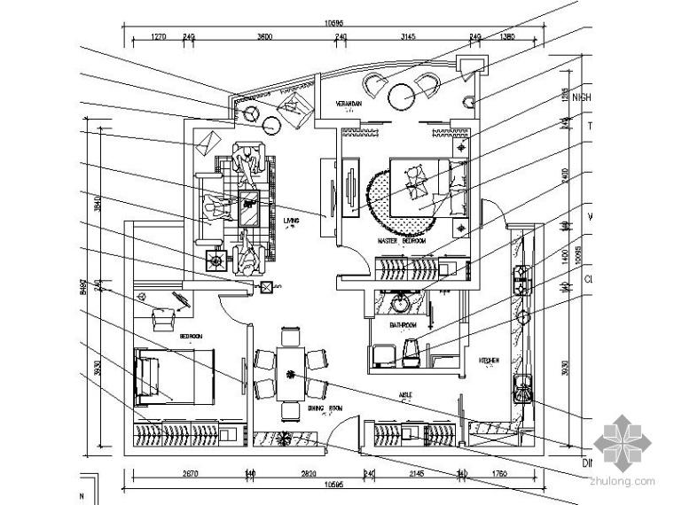 [上海]二居室设计施工图