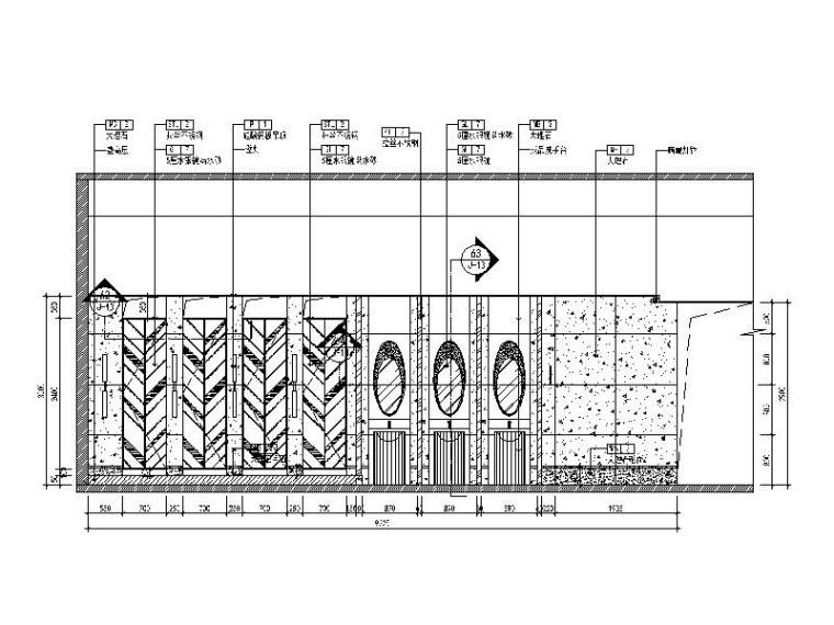 [北京]优雅唯美云南特色餐厅室内设计施工图(含效果图)_8
