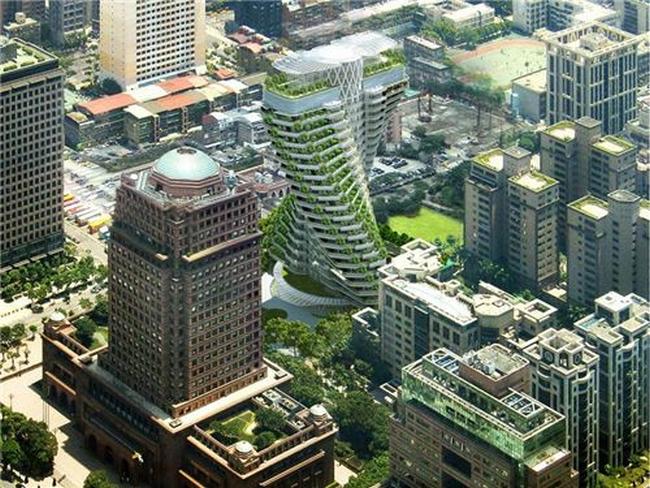 """台湾绿色节能地标建筑""""陶朱隐园""""钢主体结构完工"""