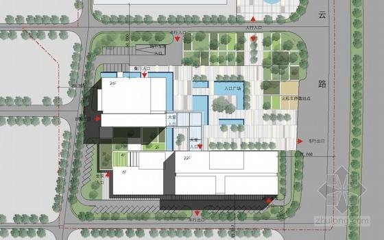 [湖南]点式塔楼高层科技办公大厦建筑设计方案文本-点式塔楼高层科技办公大厦总平面图