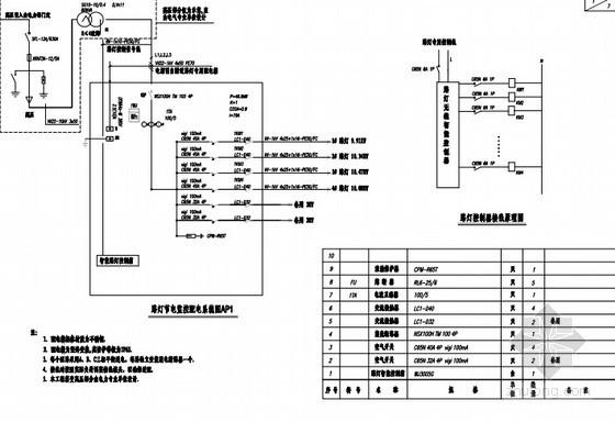 路灯配电系统图