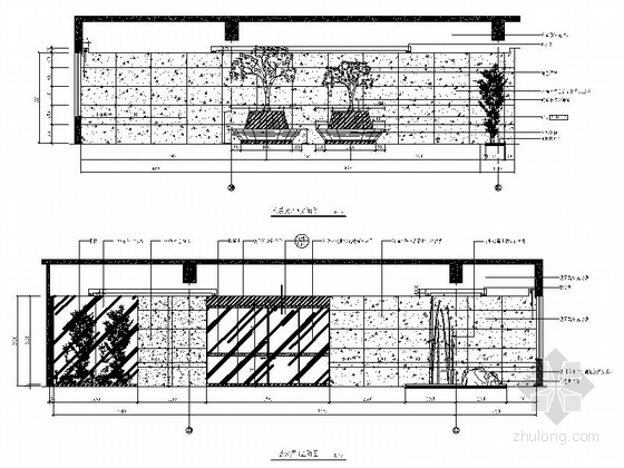 [南京]国家旅游景区现代科技活动中心室内装修施工图(含效果)大厅立面图