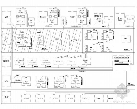 [安徽]大型连锁外企餐厅机电全套施工图纸66张(水暖电 审图意见)