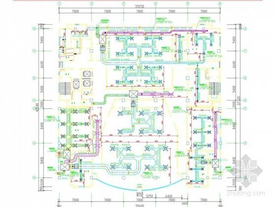 [北京]多层酒店综合楼空调通风系统设计施工图(机房设计)