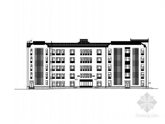 [辽宁]五层中式风格高校教学楼建筑施工图