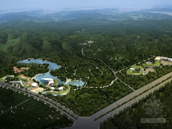 [四川]大型旅游生态园概念性设计方案文本(含三种方案)