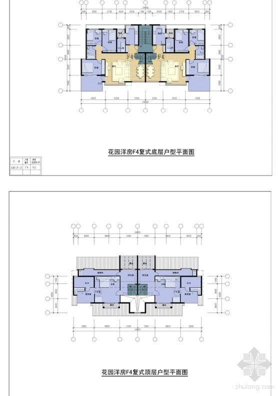 洋房复式户型平面图