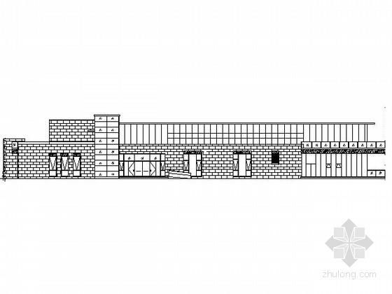 [济南]澄波湖某二层展示中心建筑施工图