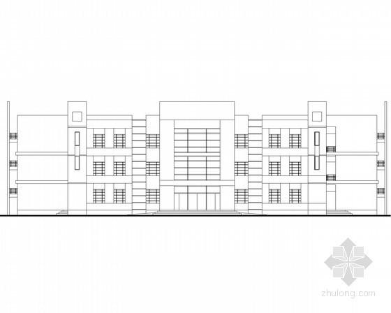 某中学三层三十二班教学楼建筑方案图(回字形)