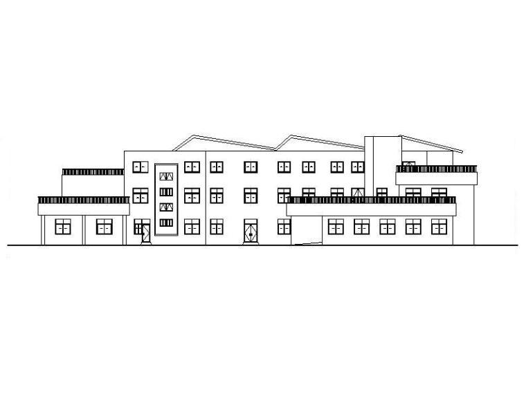 [浙江]三层框架结构坡屋顶幼儿园建筑施工图(含效果图)