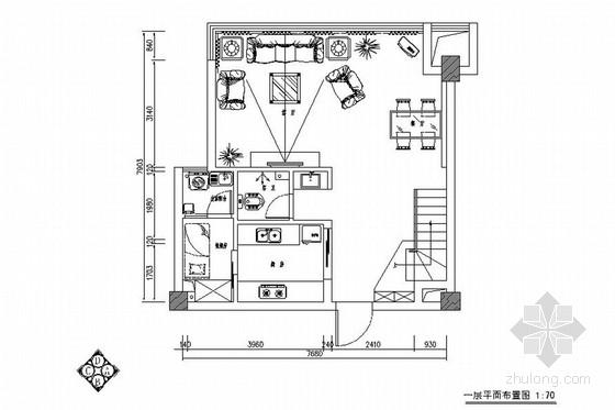 温馨田园风格双层别墅室内装修施工图(含实景图)