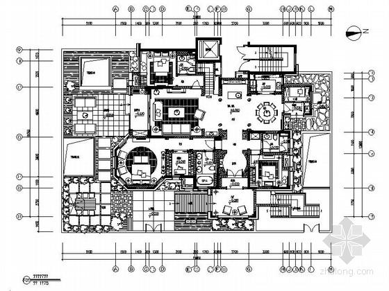 [安徽]奢华古典三层别墅样板间装修图(含实景)