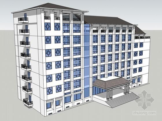 商业建筑SketchUp模型下载-商业建筑