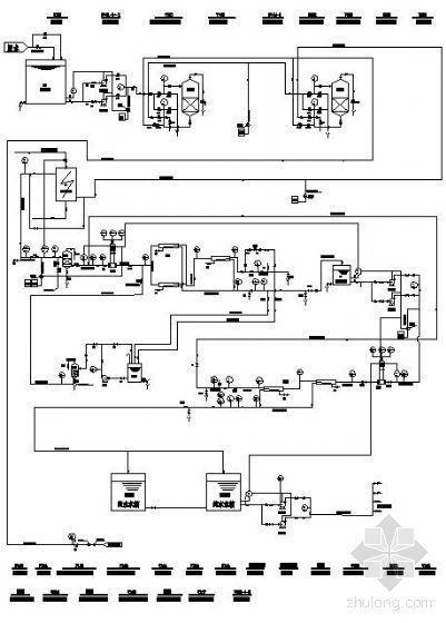 甘肃某10吨二级反渗透纯水系统流程图