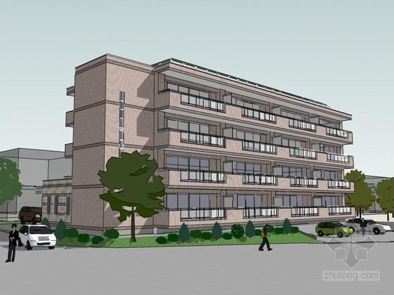 多层办公建筑SketchUp模型下载