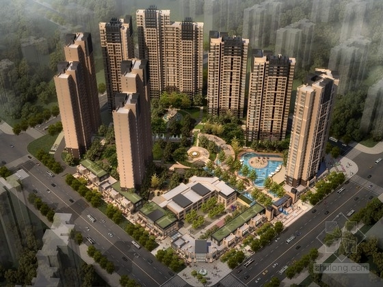 [四川]32层现代风格住宅区规划设计方案文本(知名建筑事务所)