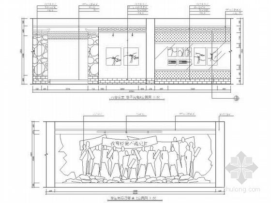 [毕业设计]某展览纪念馆室内设计施工图(含效果) 立面