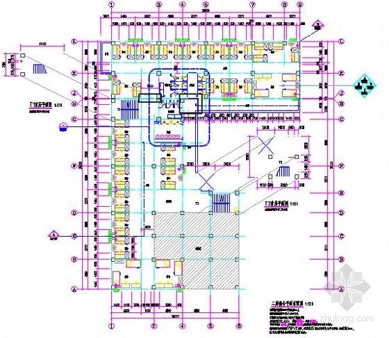 [广东]2015年医院宿舍楼装修工程预算书(附施工图纸)-03二层宿舍平面布置图