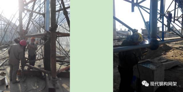 大跨度煤棚焊接球网架液压顶升施工技术_16