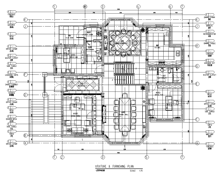[安徽]池州某二层别墅室施工图及效果图