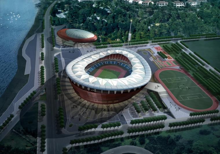 [重庆]万州体育中心建筑设计方案文本(JPG+PDF)