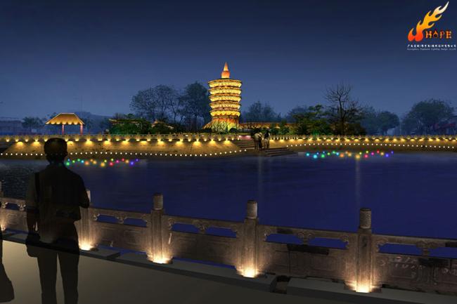 河南安阳古建筑群照明夜景灯光设计方案