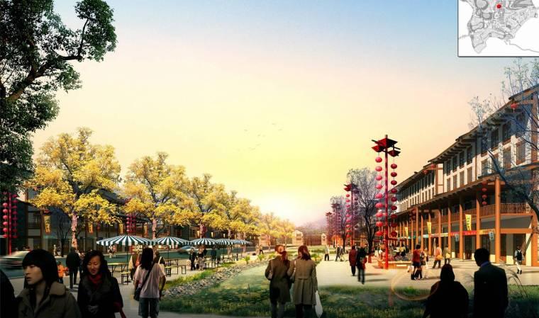 [重庆]丰都旅游休闲度假小镇规划设计(巴渝风情)-旅游休闲度假小镇规划设计——川东风情街效果图