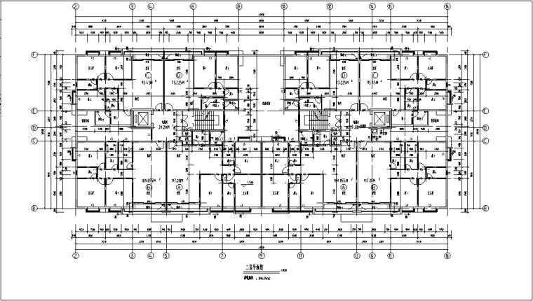现代高层商住楼建筑设计方案初设图CAD-4