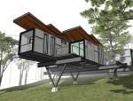集装箱别墅建筑模型