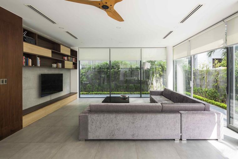 越南胡志明白色方块住宅-12