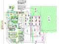 大型广场项目基础施工平面布置图方案
