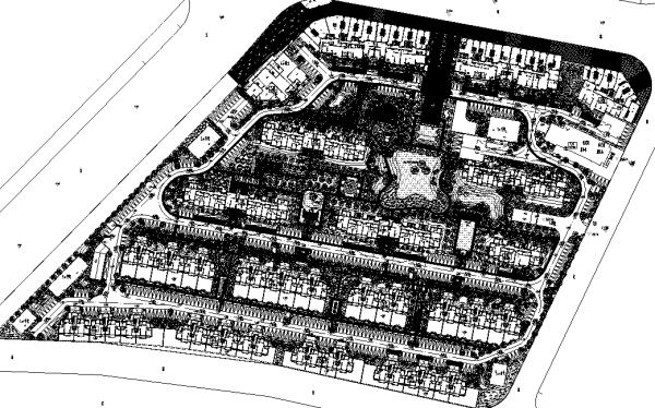 [上海]大型高端住宅社区景观地块设计全套施工图